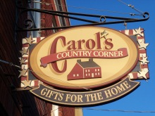 Carol's Country Corner sign