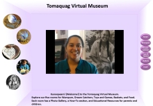 Image of Tomaquag Museum Virtual Exhibit home page